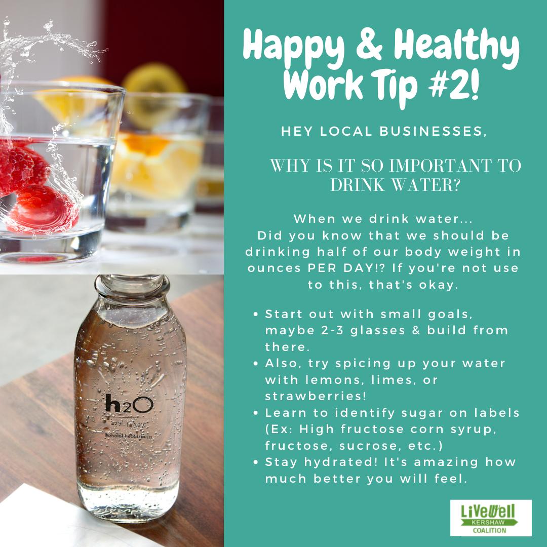 Happy Healthy Work Tip 2
