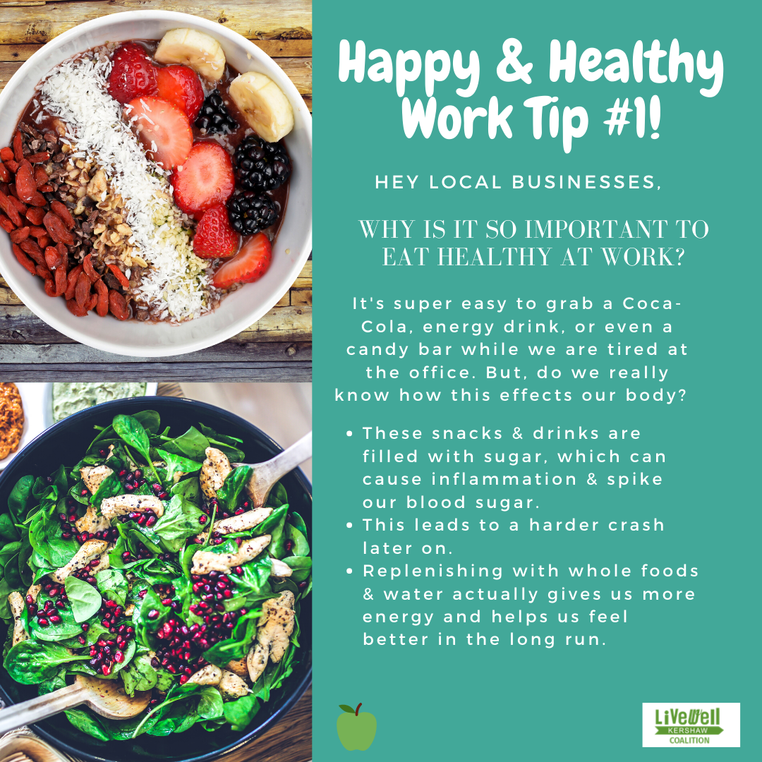 Happy Healthy Work Tip 1