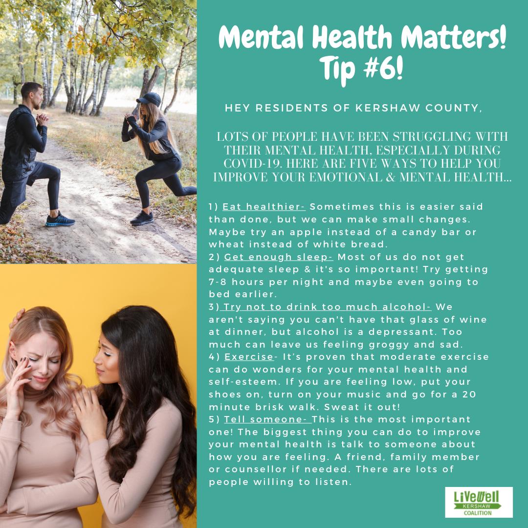 Mental Health Tip 6